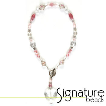 Crystal and Pearl Necklace Pink Kit