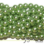 Spearmint 8mm Round Imitation Pearls