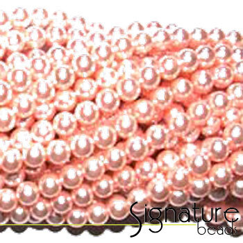 Pink 8mm Round Imitation Pearls