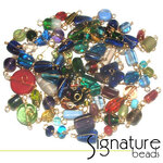 Bulk Beads 500 Gold Wire Wrapped Bead Mix