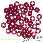 Opaque Red Lustered Acrylic Pony Beads