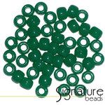 Opaque Christmas Green Acrylic Pony Beads