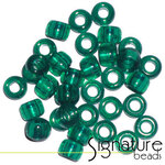 Transparent Christmas Green Acrylic Pony Beads