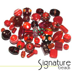 Garnet Transparent Glass Beads