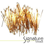4cm (1.5 inch) Gold-Plated Eye Pins