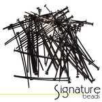 Black Nickel 4cm (1.5 inch) Headpins - Packet of 50