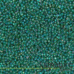 Rainbow Green Emerald 11/0 Round Japanese Toho Seed Beads