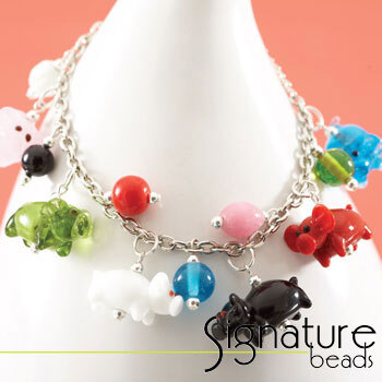 """Little Piggies"" Charm Bracelet Kit"