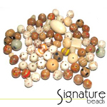 Beige Toned Signature Glass Bead Mix