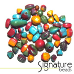 Colourful TOUCAN Signature Glass Bead Mix