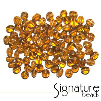 Topaz Transparent Glass Beads