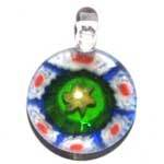 GLASS PENDANT <br>Round pendant with Abstract Design
