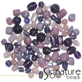 Bulk Beads 500 Lavender Garden Mix