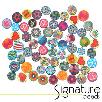 FIMO Polymer Clay Coin Beads in Various Designs