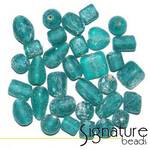 Aqua Frosted Glass Bead Mix