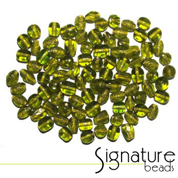 Peridot Transparent Glass Beads
