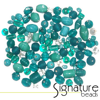 Bulk Beads 1000  Lagoon Mix