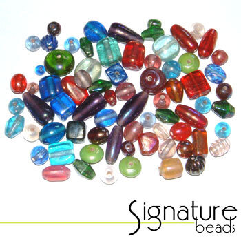 Colourful Lustered Glass Bead Mix