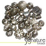 Antique Silver Hollow Metal Mix