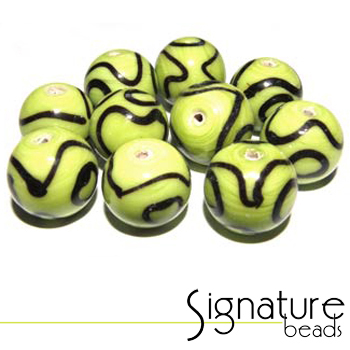 Funky Lime Green and Black Rounds - Packet of 10