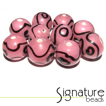 Funky Pink and Black Rounds - Packet of 10