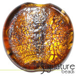 Large Topaz Focal Silver Foil Bead