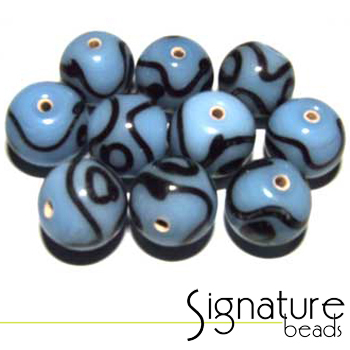 Funky Blue and Black Rounds - Packet of 10