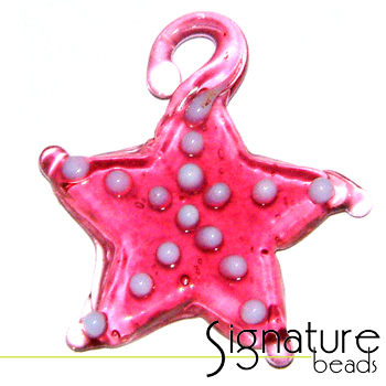 Pink Lampwork Glass Starfish