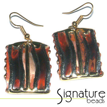 Creative Copper Rectangular Design African Hand-made Earrings