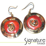 Creative Copper Circular Design African Hand-made Earrings