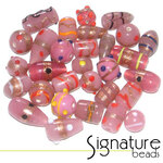 Opaque Pink Toned Signature Glass Bead Mix