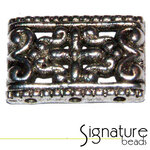 3-strand Antique Silver Rectangle Metal Slider
