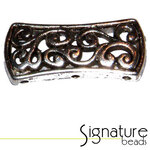 3-strand Antique Silver Filigree Metal Slider
