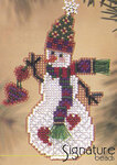 Mill Hill Glass Snow Charmer Bead Kit Folk Heart Snow Charmer
