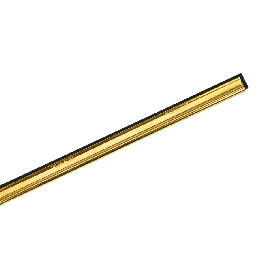 Ettore Solid Brass Window Washing Cleaning  Squeegee Channel w// Rubber ANY SIZE!