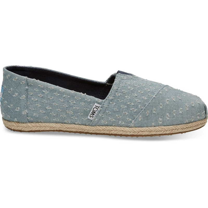 04c23ca9fa9 Toms Womens Seaglass Torn Denim Rope Sole Espadrilles Slip On