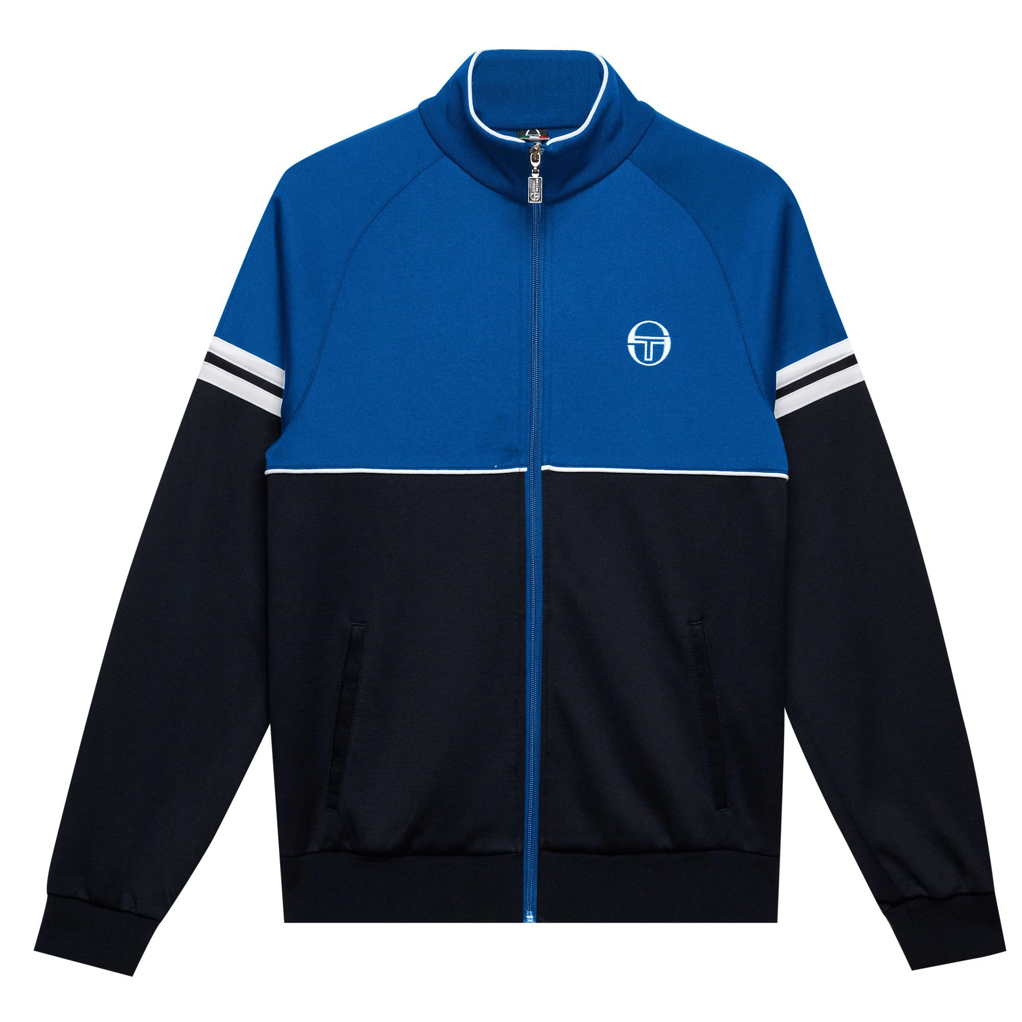 Sergio Tacchini Dallas Track Top in Navy retro tracksuit jacket 80s Orion Star