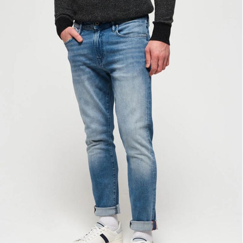 Details zu Superdry Tyler Slim Tunsall Jeans Mid Blue