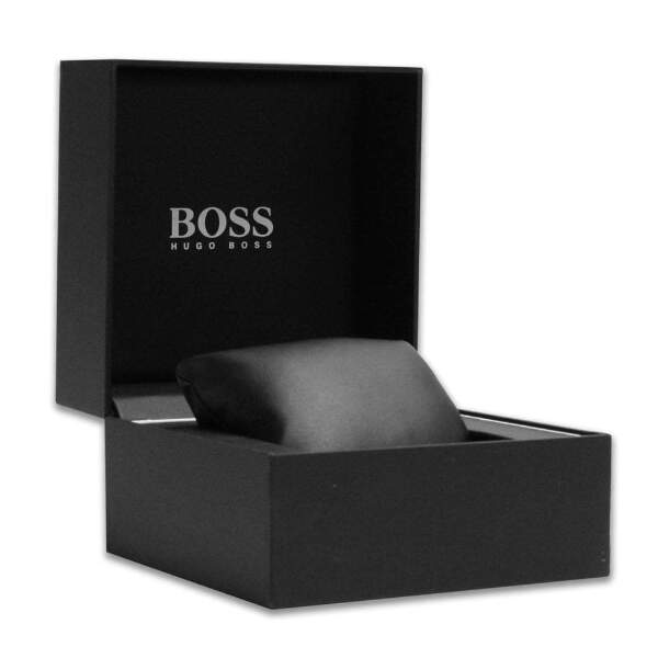 1585750a9 Hugo Boss Men's Jet Chronograph Watch, Leather Strap, Black Dial ...