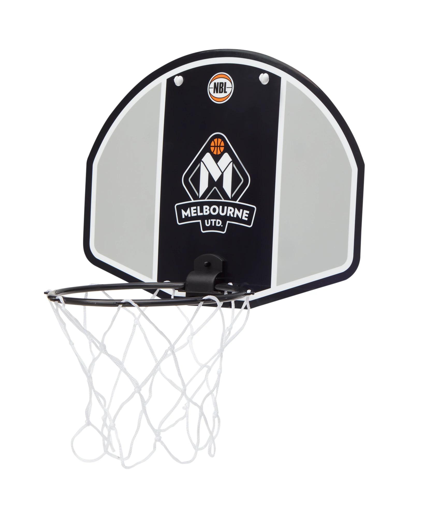 Melbourne United 19//20 Official NBL Mini Basketball Backboard Ring Hoops