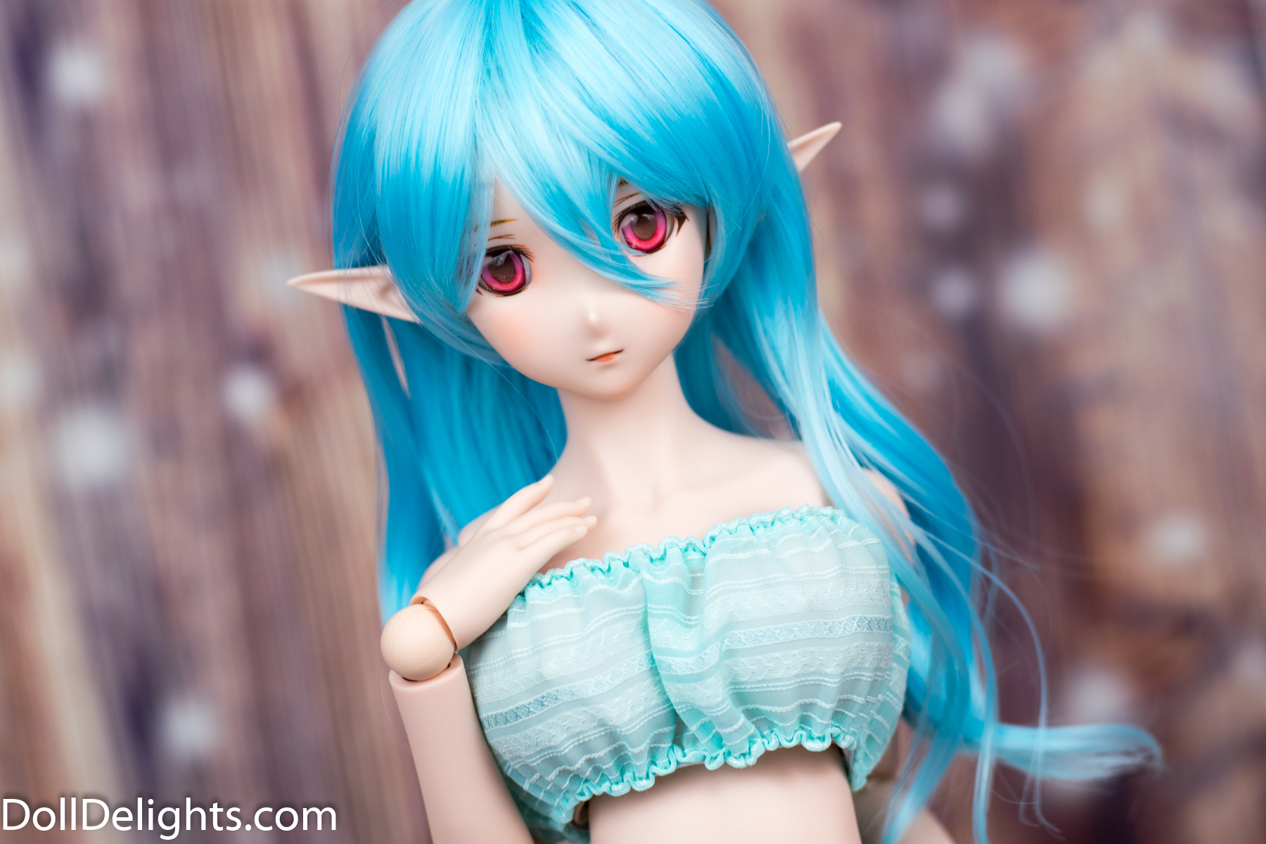 Fitted Tube Top Blue 1//3 BJD Clothes Smart Doll Dollfie DD DDdy