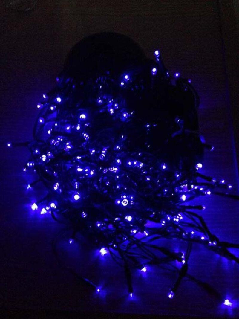 best cheap d818a a986f Details about 12M 300LED Solar Icicle Lights - Blue Colour