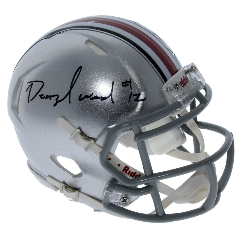 4d17a2f4 Details about Denzel Ward Ohio State Buckeyes Autographed Riddell Speed  Mini Helmet - PSA/DNA