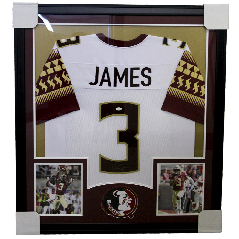 wholesale dealer afd4a fb4ea Details about Derwin James Autographed Framed Nike On Field White Jersey -  JSA Certified Authe