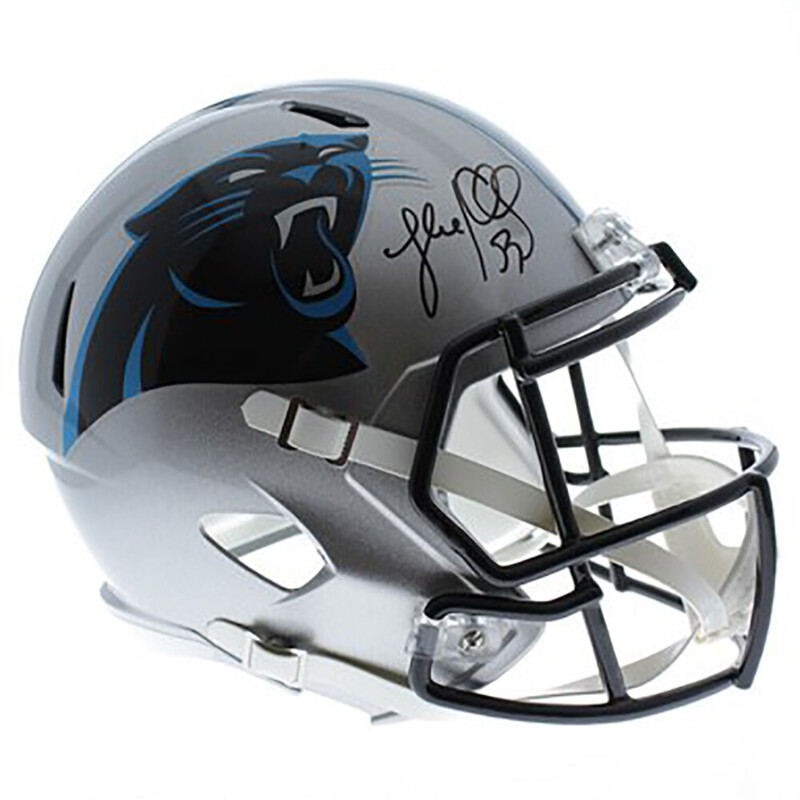 newest 97976 c5541 Details about Luke Kuechly Autographed Carolina Panthers Riddell Speed  Authentic Helmets - JSA