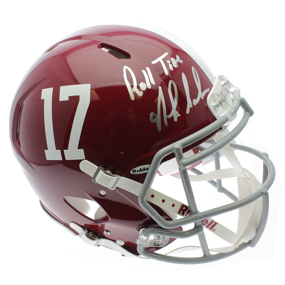 Alabama Crimson Tide 2015 National Championship Team Autographed Signed White Panel Football Without Nick Saban Certified Authentic
