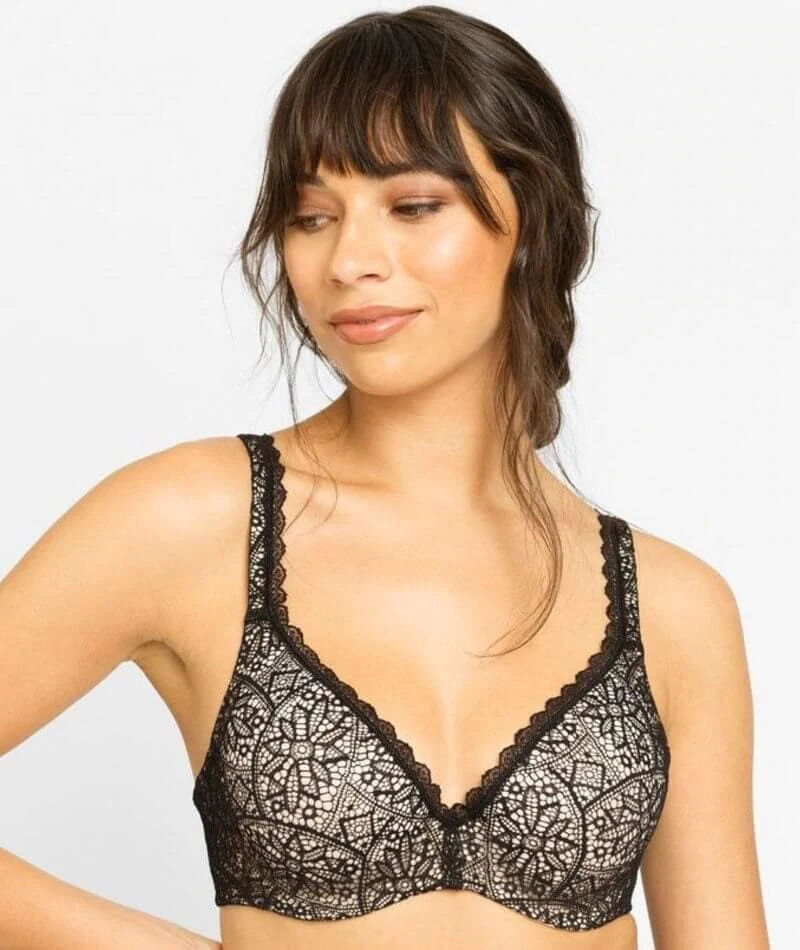 2497c038a2094 Berlei Barely There Lace Contour Bra - Black