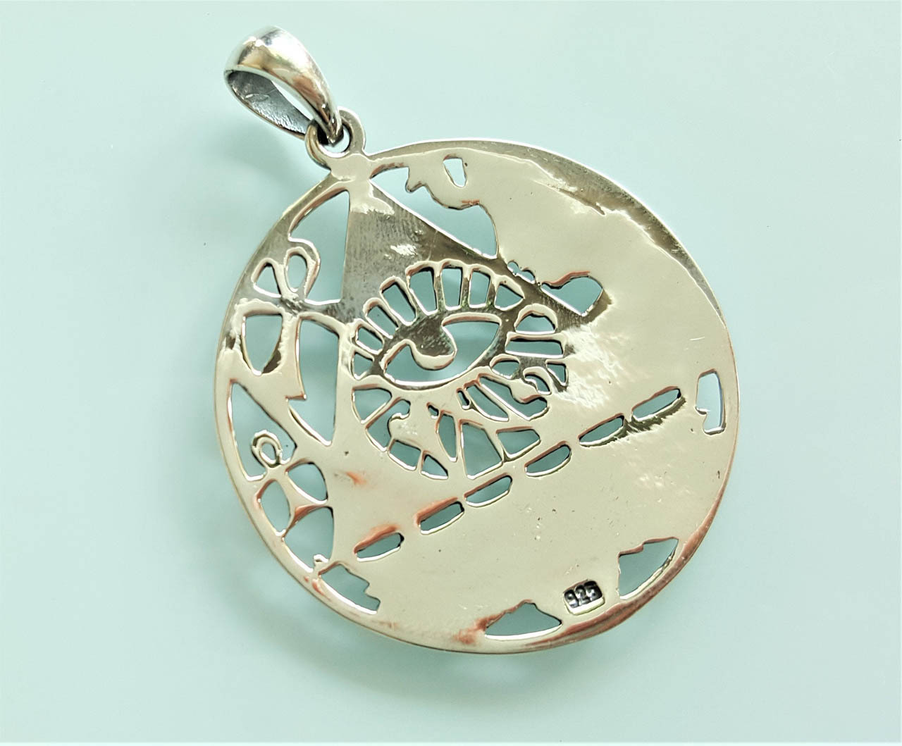 Hieroglyphics 925 Silver Egyptian Ansata wh369 Details about  /Eye of Horus Ankh Pendant ONLY
