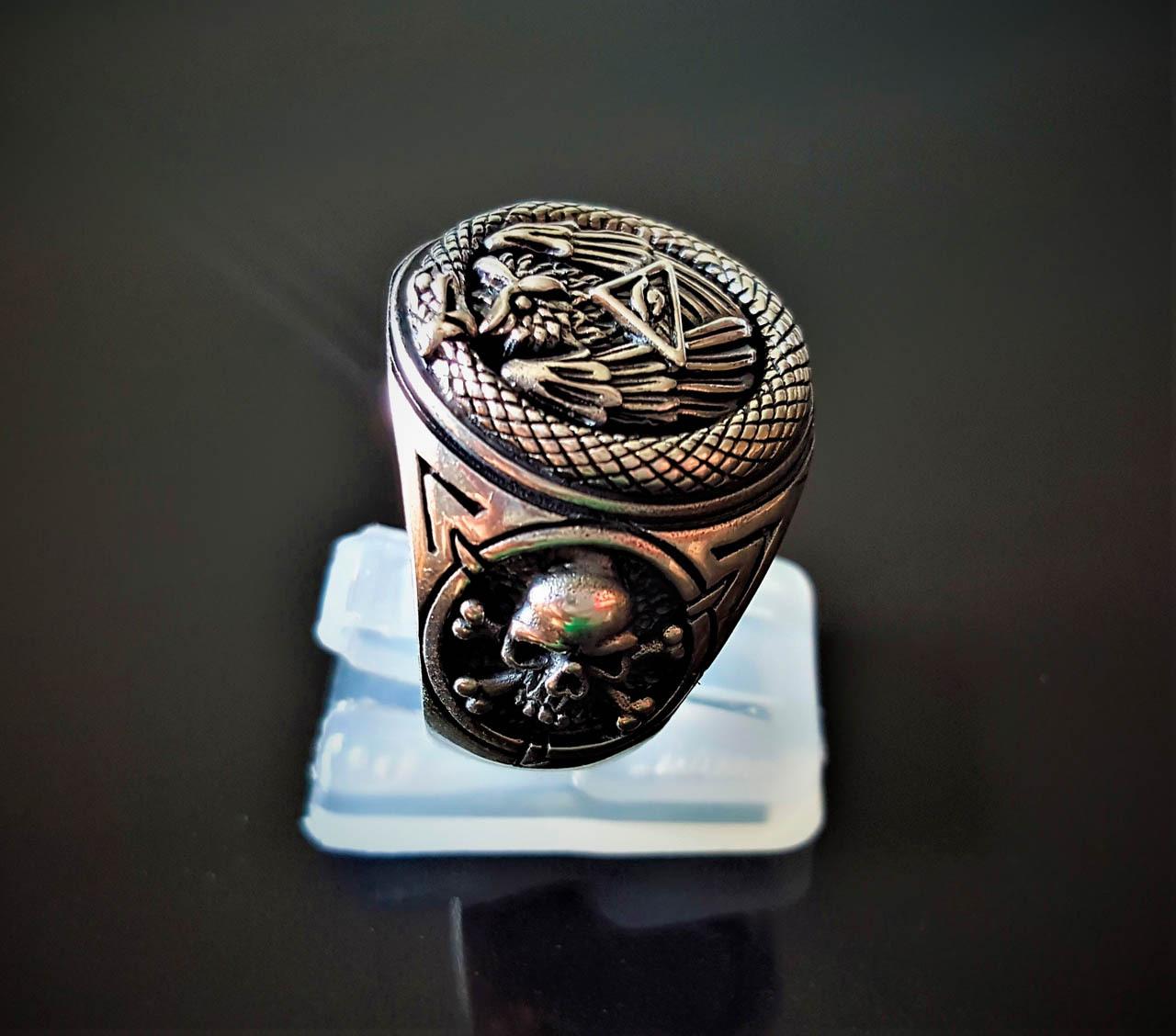 Eliz Argent Sterling 925 Ouroboros pendentif infinity Sacré Ancien SYMBOLE SERPENT