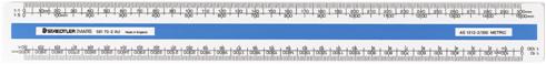 Staedtler oval scale ruler 300 blue